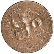 "1½ Pence ""Black Dog"" - Tobago British Administration (Countermarked coinage) – revers"