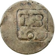2¼ Pence (TBO Countermark on French colonies 1 Stampee) – avers