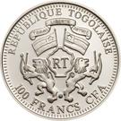 100 francs CFA (Colibri bleu) – avers