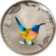 100 francs CFA (Oiseau bleu) – revers
