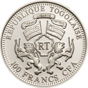 100 francs CFA (Colibri vert) – avers