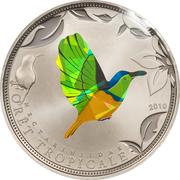 100 francs (Oiseau vert) – revers