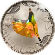 100 francs (Oiseau jaune) – revers
