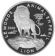 1000 francs CFA (lion) – revers