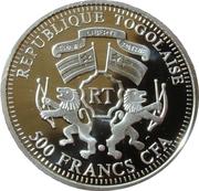 500 francs CFA (Jeanne d'Arc) – avers