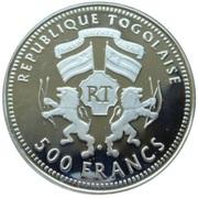 500 francs CFA (Coupe du Monde de football Allemagne 2006) – avers