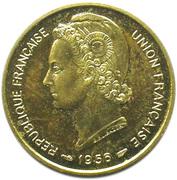 10 francs Union Française Togo (Essai) – avers