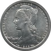 1 franc Togo – avers