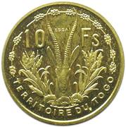 10 francs Union Française Togo (Essai) – revers