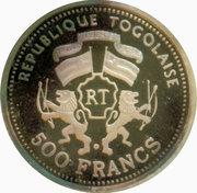 500 francs CFA (120e anniversaire du monnayage d'or par la Suisse) – avers