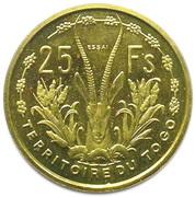 25 francs Union Française Togo (Essai) – revers