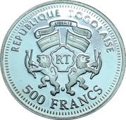 500 francs CFA (Goethe / Schiller) – avers