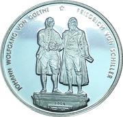 500 francs CFA (Goethe / Schiller) – revers