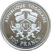 500 francs CFA (Helmut Schmidt) – avers