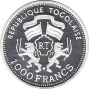 1000 francs CFA (Douglas DC-4) – avers