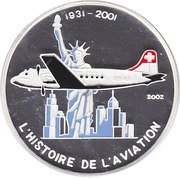 1000 francs CFA (Douglas DC-4) – revers