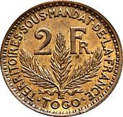 2 francs Territoires sous mandat – revers