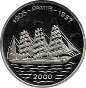 1000 francs CFA (Pamir) – revers