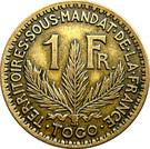 1 Franc Territoires sous mandat – revers