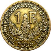 1 Franc Togo – revers