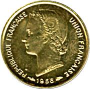 5 francs Togo – avers