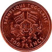 500 francs CFA (Gorch Fock ; cuivre) – avers