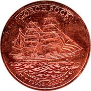 500 francs CFA (Gorch Fock ; cuivre) – revers