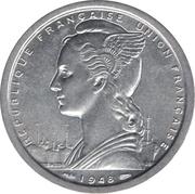 2 francs Union française – avers