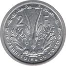 2 francs Union française – revers