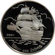 1000 francs CFA (Adler von Lübeck) – revers