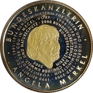 250 francs CFA (Angela Merkel) – revers