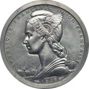 2 francs (Piéfort essai) – avers