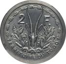 2 francs (piefort essai) – revers