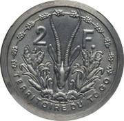 2 francs (Piéfort essai) – revers
