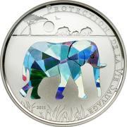 100 francs CFA (Éléphant) – revers