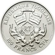 100 francs CFA (Lion) – avers
