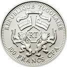 100 francs CFA (Zèbre) – avers