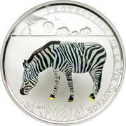 100 francs CFA (Zèbre) – revers