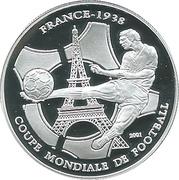 1000 francs CFA (Coupe du Monde de football - France 1938) – revers