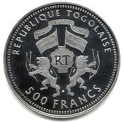 500 francs CFA (Gorch Fock) – avers