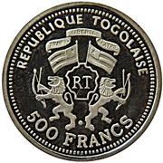 500 francs CFA (Zénobie) – avers