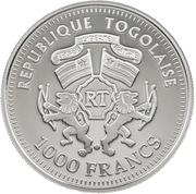 1000 francs CFA (Coupe du Monde de football) – avers