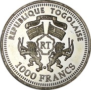 1000 francs CFA (World Cup Soccer - Bern 1954) – avers