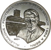 1000 francs CFA (World Cup Soccer - Bern 1954) – revers