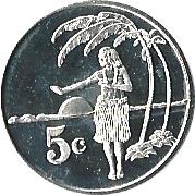 5 cents - Élisabeth II – revers