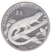 5 Tala - Elizabeth II - Endangered Wildlife – revers