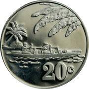 20 cents - Élisabeth II – revers