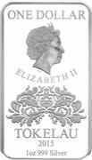 1 Dollar - Elizabeth II (Hearts) – avers