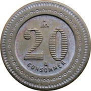 20 Centimes -  À consommer – revers