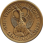 Token - Phoenix, Arizona Centennial – avers